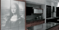 Modern Mona Lisa design kitchen