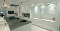 White & Silver rococo design kitchen