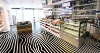 PVC floor for a conveniet store