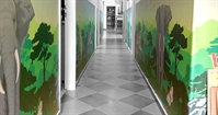Illustrated Wallpapers in a children institution