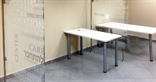 Printed glass partitions. Marash Architects